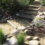 """Waterfall"" garden steps"